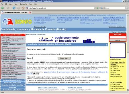 Listados de negocios, profesionales y empresas en la guia de Fuenlabrada, Humanes y Moraleja de Enmedio (Madrid)